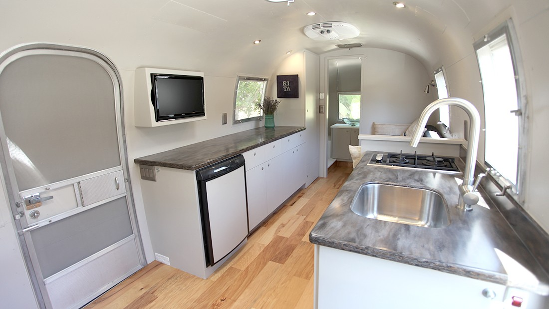 1967 Airstream Tradewind 25' in Santa Barbara, CA. Renovated by Innovative Spaces.